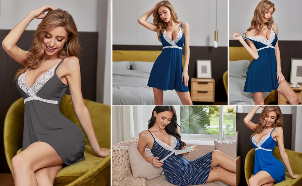 women chemise nightgown women sexy nightgown