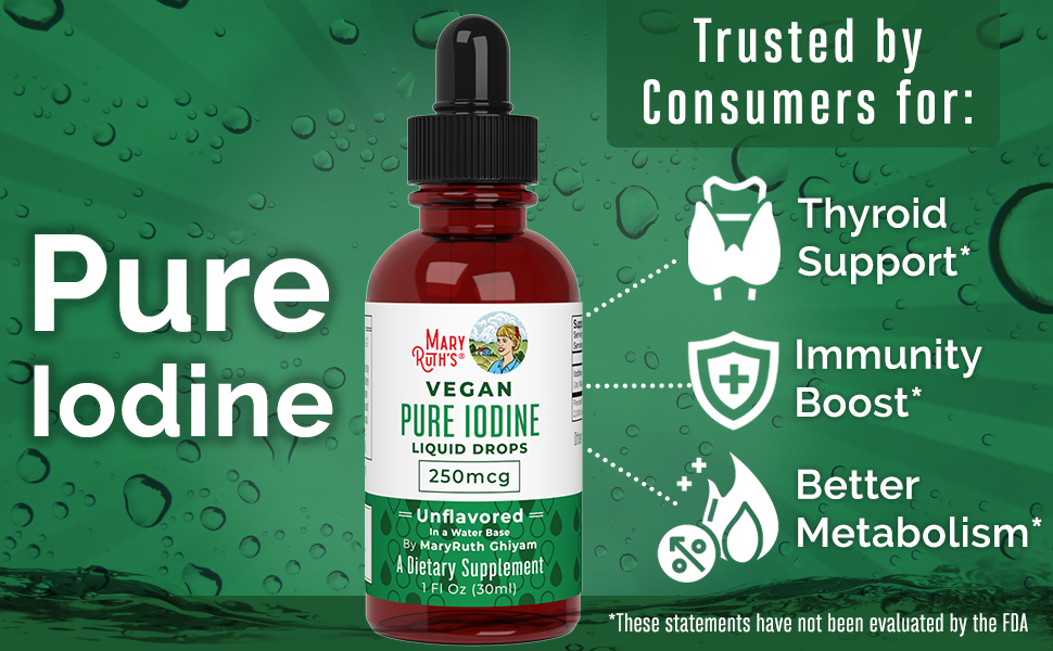mary ruth maryruth iodine solution supplement drops liquid iodide potassium nascent thyroid tablets