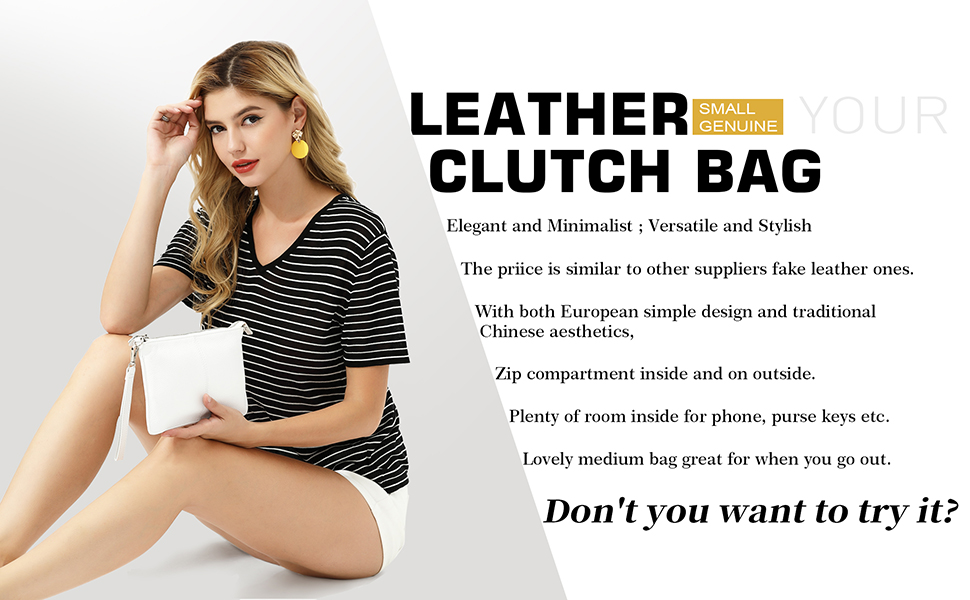 women genuine leather cross body purse