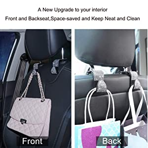 car seat headrest hanger