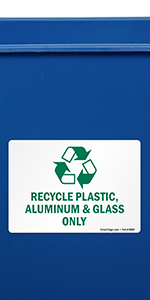 """Amazon.com: SmartSign """"Recycle Only No Trash Sign 