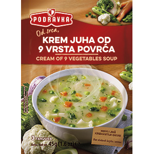 Podravka cream of 9 vegetables soup vegan delicious