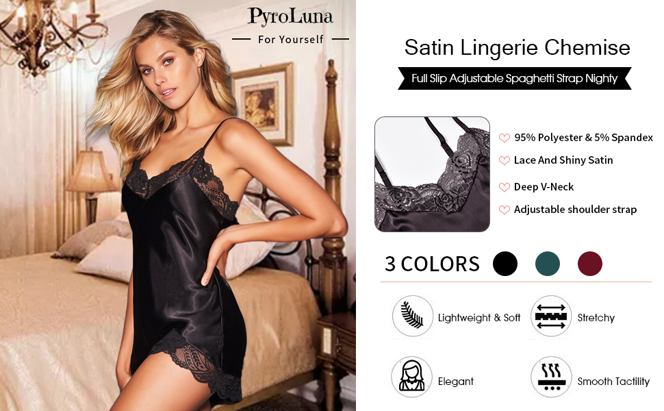 satin chemise nightgowns pajamas sexy lingerie plus size  for women
