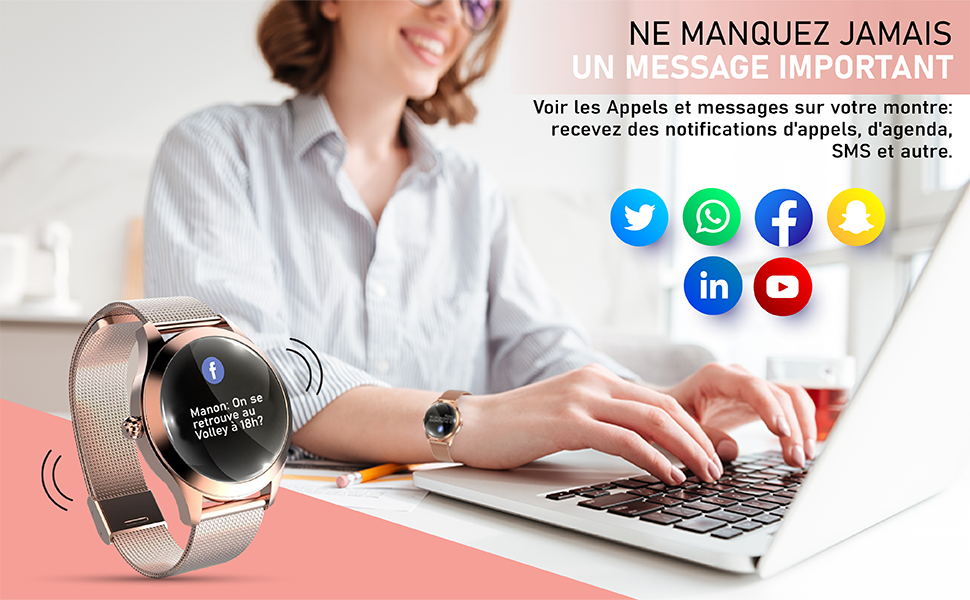 montre message mail sms mail