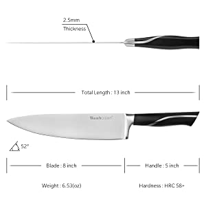Care and handling of Wabasion chef knife