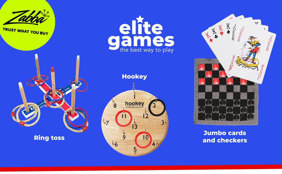 Elite sportz has games that are fun for the whole family