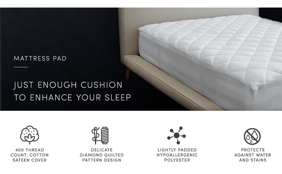 The Luxury Collection Mattress Pad Just Enough Cushion To Enhance Your Sleep