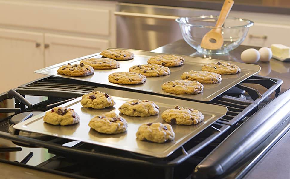 360 stainless steel bakeware baking pan non toxic cookie sheet cake pie loaf roasting jelly roll