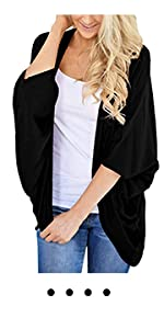 black summer cardigan