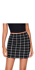 Elastic Waist Bodycon Mini Skirt