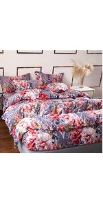 YOU SA Rustic Floral Duvet Cover Set Paisley Design Bedroom Set Bed Linen