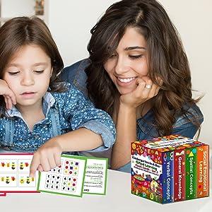 Kindergarten in a box set 2 TestingMom flash cards for Pre-k to K