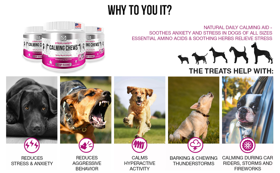 calming relaxer treats chews bites supplement dog dogs large anxiety aggressive reduces stress
