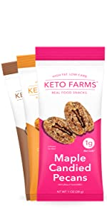 keto snacks, keto nuts, keto candy, sweets, pecans, toffee peanuts, cocoa almonds