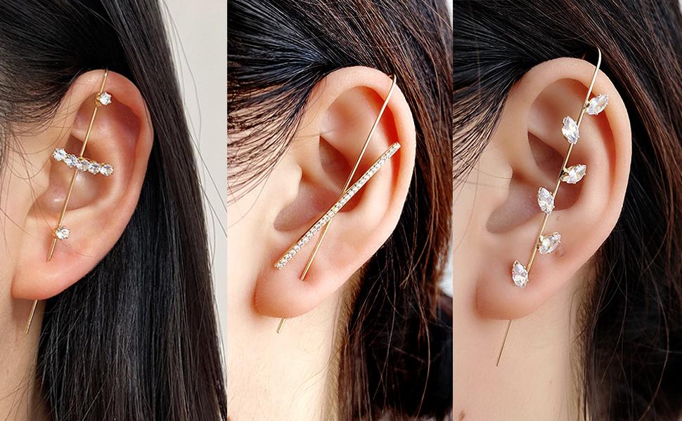 ear climbers earrings for women