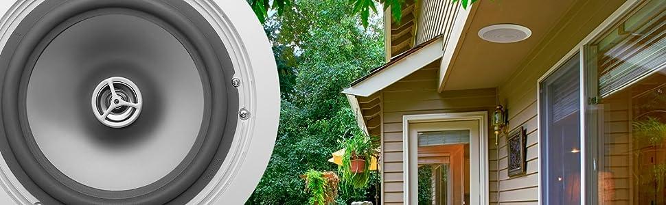 outdoor in-ceiling weather resistant speakers