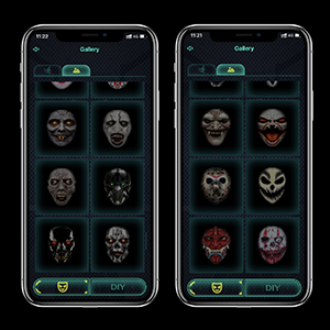 Bluetooth Editing Full Color Changing Halloween Xmas Festival 115 Patterns Advanced Masks
