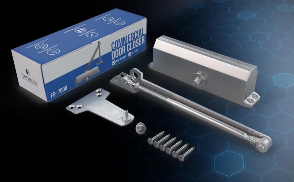 Door Closer FS-7600 Adjustable Grade 1 Commercial Standard Automati Heavy Duty