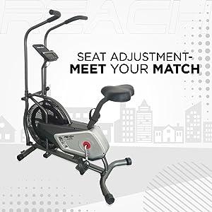 adjustable seat iconic reach air bike