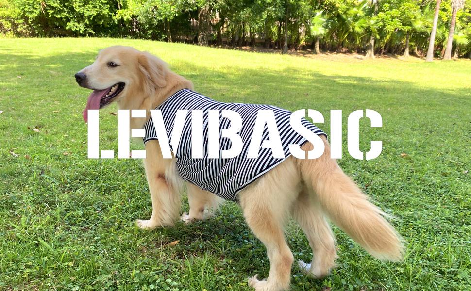 Dog shirt cotton striped tee shirt classic vest sleeveless t-shirt