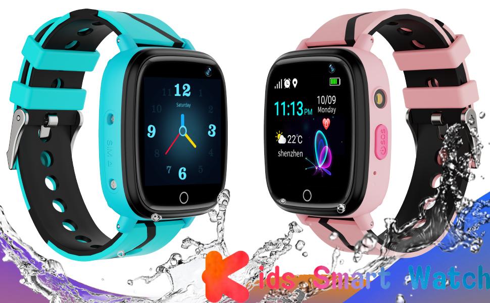 YENISEY Kids Smart Watch GPS Tracker - 2019 Waterproof 12 Hrs Children Smart Watches with 1.4