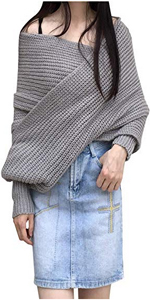 arjosa wrap sweater grey