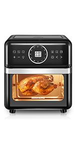 black air fryer oven
