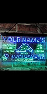 ADVPRO LED neon sign Personalized fonts text dual-color bright light man cave home bar