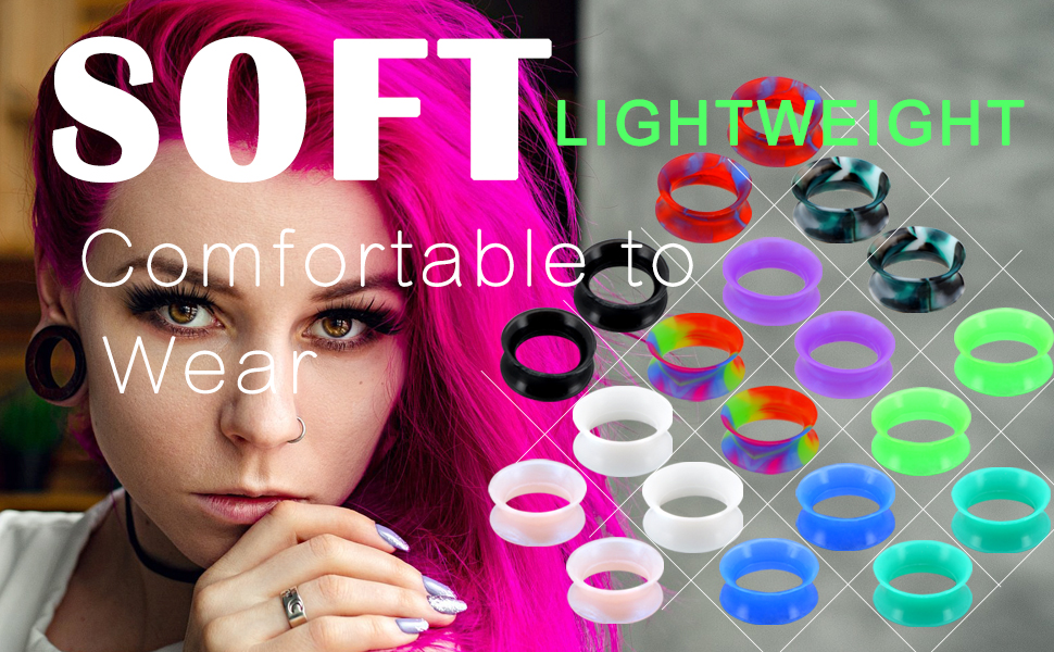 Silicone earring plug Tunnels