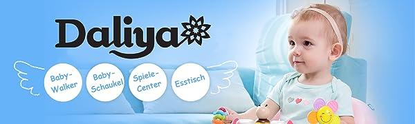 Daliya BEBISTEP 4in1 Lauflernwagen Babywalker Musik /& Spielecenter /& Esstisch