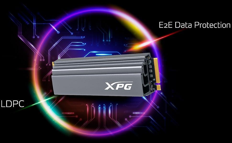 XPG GAMMIX S70 PCIE 4.0 NVME 1.2 SSD LDPC Encryption
