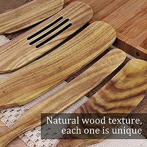 wooden cooking utensils set
