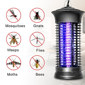 ROVLAK L/ámpara Anti Mosquitos Electrico 14W UV Luz Repelente Zapper de Mosquitos Mosca L/ámpara Destructora Sin Qu/ímicos T/óxicos Zapper Mosquitos Polillas para Sal/ón Despacho y Habitaci/ón Infantil