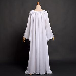 vintage white viking dress