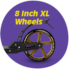 large 8 inch wheel scooter