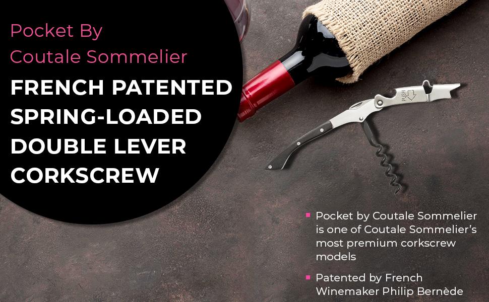 Prestige Waiters Corkscrew By Coutale Sommelier - Black Wood - Wine Bottle Opener