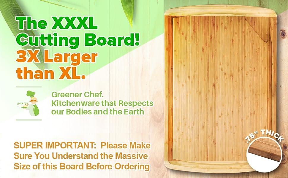 Extra large cutting board