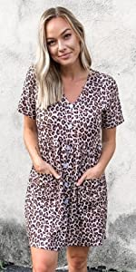 Women leopard dress