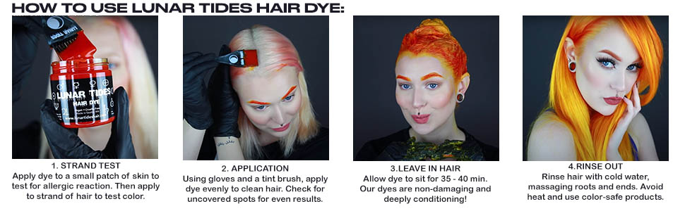 How to Apply Hair Dye Infographic