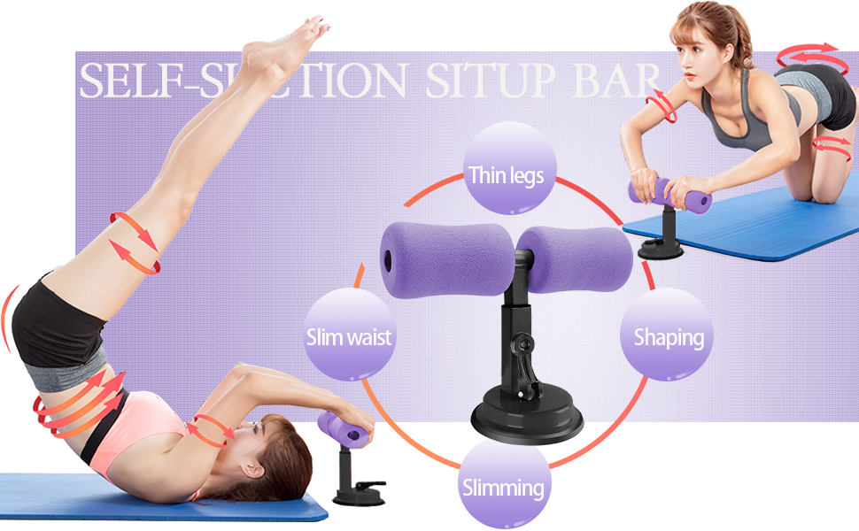 Self-Suction Situp Bar