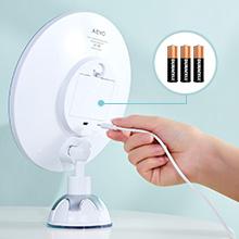 Kosmetikspiegel LED Beleuchtet mit 10x Vergrößerung, Starkem Saugnapf und 2  Schminkspiegel