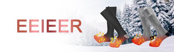 Noir C-FUNN Paire De Chaussettes Chauffantes /Électriques Chauffe Bottes Chaudes pour Moto /Équitation Ski Noir