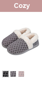 Womens Fuzzy Slide Slippers