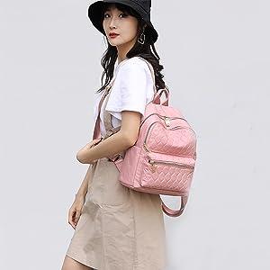 women backpack purse, small daypack for women, mini school bag,backpack for women