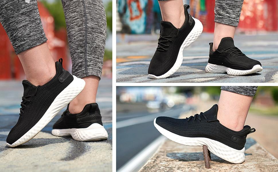 black-white shoes