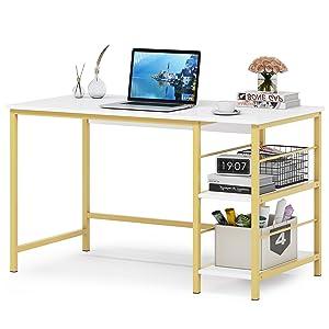 Computer Desk, APOWE Industrial Writing Desk, Home Office Desk, PC Laptop Study Workstation for