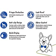 All Pet Solutions Puppy Dog Cat Kitten Training Wee Pads Odour Control Toilet Non Slip Mat Layered