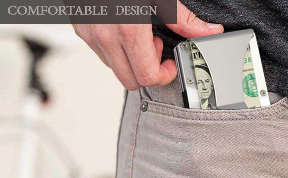 men metal carbon fiber ridge wallet minimalist thin stylish small wallet aluminum silver steel