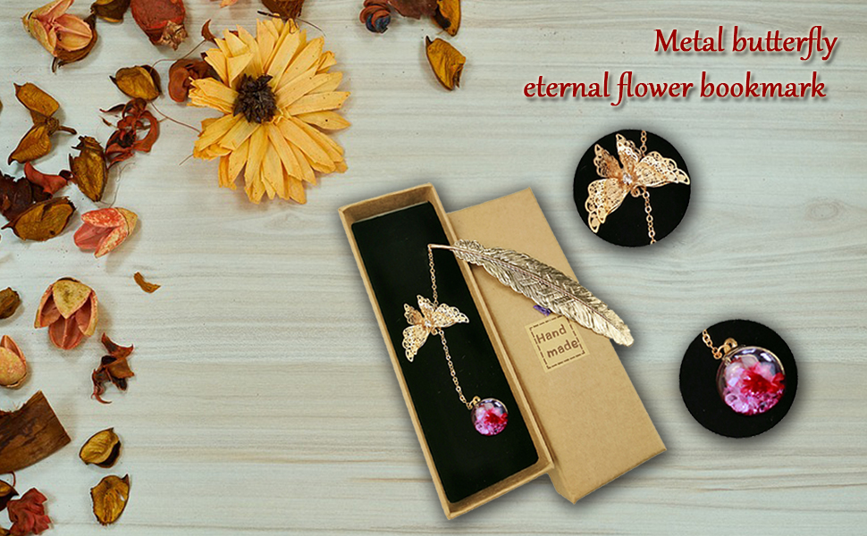 is an Ideal Gift for Friends and Relatives Brass Hollow Retro Style Creative Small Fresh Fairy Deer Classic and Elegant Metal Fan Bookmark