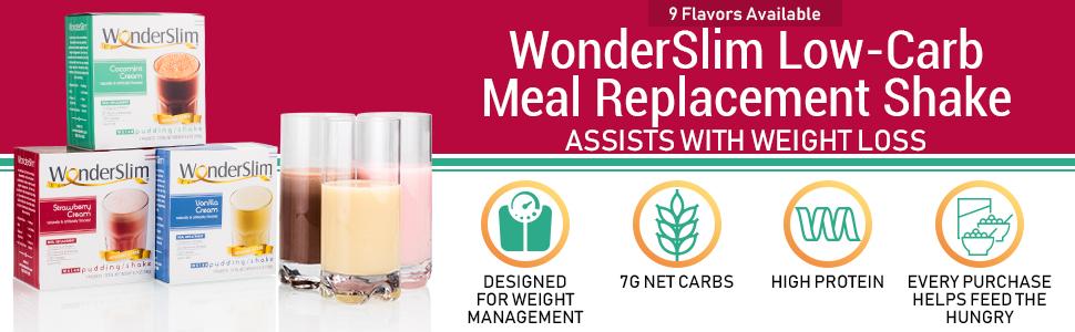 wonderslim low carb meal replacement shake